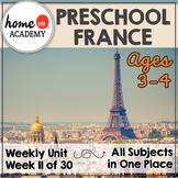 France - Weekly Preschool Curriculum Unit for Preschool, PreK or Homeschool