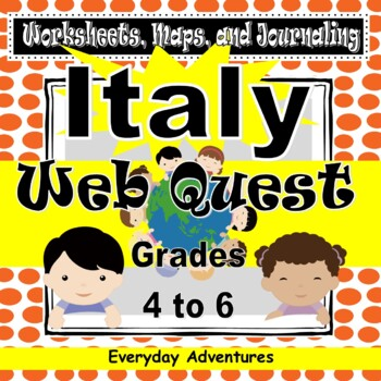 Italy:  Worksheets, Maps, and Journaling Pages