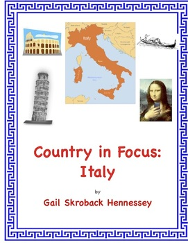 Italy and Ancient Rome(Country in Focus: A Webquest)