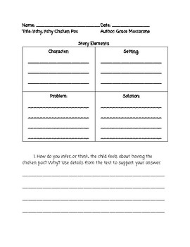 Itchy Itchy Chicken Pox Guided Reading Lesson Plan