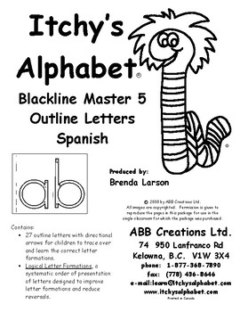Itchy's Alphabet Outline Letters - Spanish