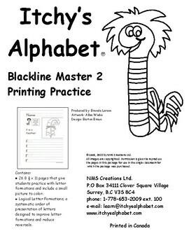 Itchy's Alphabet Printing Practice