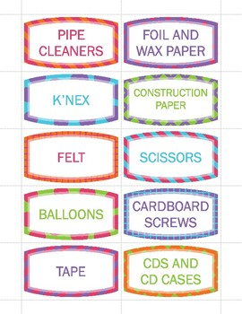 Item Labels for MakerSpace Bins