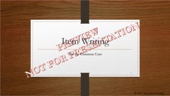 Item Writing Professional Development