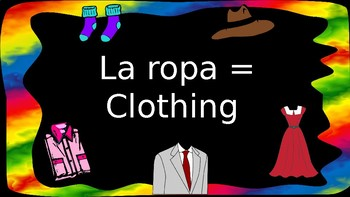 Items of clothing in Spanish