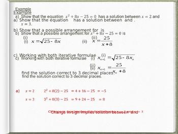Iterative Formulae