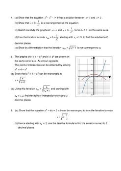 Iterative Formulae Worksheet