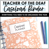 Itinerant Teacher of the Deaf Caseload Binder Editable