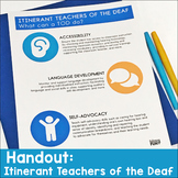 Itinerant Teacher of the Deaf Handout