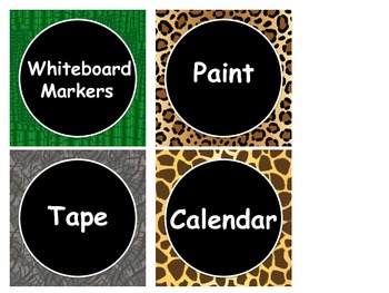 It's A Jungle Classroom Labels