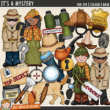 """Detective Clip Art: """"It's A Mystery"""""""