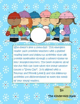 It's A Snow Day Emergent Reader Pack