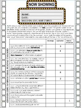 Activities/Assessments - Informational Reading - 6th Grade