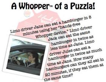 It's A Whopper of a Puzzla!