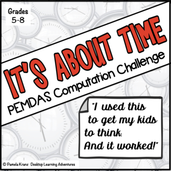 PEMDAS (Order of Operations) Computation Activity - It's A