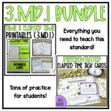 Telling Time and Elapsed Time Bundle {3MD1}