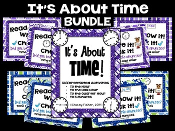 It's About Time BUNDLE-Time to the Hour, Half Hour, Quarter Hour, and 5 Minutes
