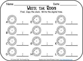 It's About Time Mixed Practice: Write the Room (March Edition)
