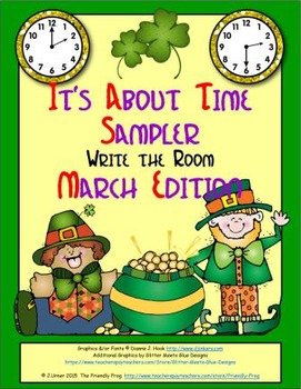 It's About Time Sampler: Write the Room (March Edition)