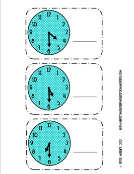 It's About Time- Time to the Hour and Half Hour cards
