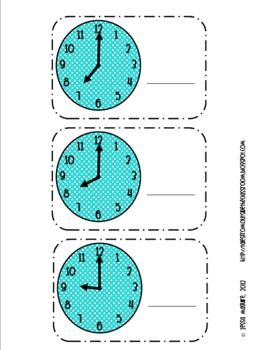 It's About Time- Time to the Hour cards FREEBIE