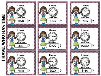 It's About Time Telling Time Nearest 5 Minutes Review Common Core Aligned MD.7