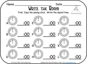 It's About Time to the Hour: Write the Room (Dinosaur Edition)