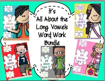 It's All About Long Vowels Word Work Foldable Bundle