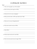 It's All About Me Student Introduction Worksheet