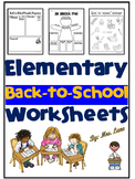 Elementary Back-to-School Worksheets
