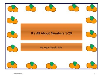 It's All About Numbers 1-20 Fall Edition