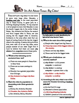 It's All About Texas (Free Sample Good for STAAR Practice ...