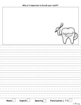 Dental Health - Math, Phonics, & Writing!