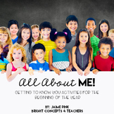 All About ME! - Getting to Know You Activities