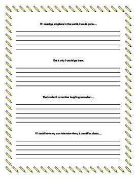 It's All About You!  Writing Prompts