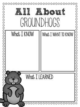It's All About the Groundhog {a mini-unit}