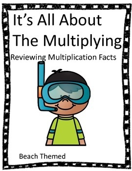 Multiplication Facts - No Prep Review Sheets (Beach)