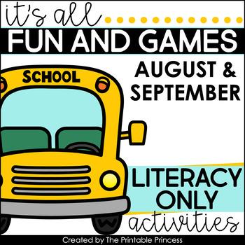 It's All Fun & Games {Back to School Activities for Kindergarten} LITERACY ONLY