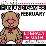 It's All Fun & Games February Math & Literacy Activities for Kindergarten