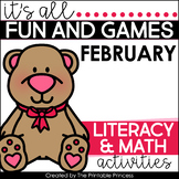 It's All Fun & Games February Math & Literacy Activities f