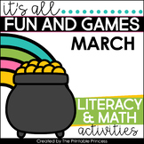 It's All Fun & Games {March Math & Literacy Activities for