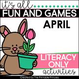 Spring Literacy Activities and Partner Games for Kindergarten
