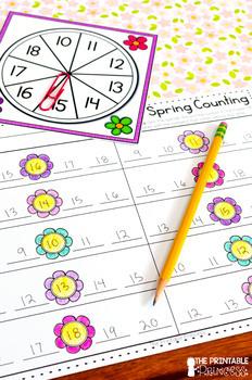 Spring Math Activities and Partner Games for Kindergarten