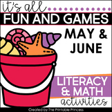 Summer Activities and Partner Games for Kindergarten {Incl