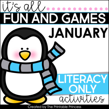 It's All Fun & Games {Winter Themed Activities for Kindergarten} LITERACY ONLY