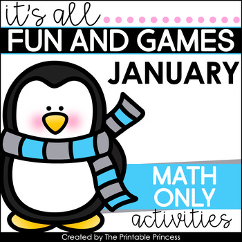 It's All Fun & Games {Winter Themed Activities for Kindergarten} MATH ONLY