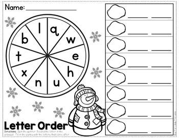 Winter Activities {Math and Literacy for Kindergarten}