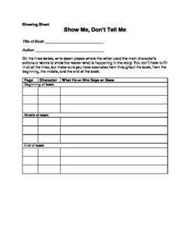 Fiction Book Report, Show, Don't Tell: Gr 3 - 6 It's All Here