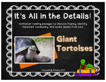 It's All In The Details!  Giant Tortoise Close Reading