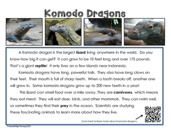 It's All In The Details!  Komodo Dragon Close Reading